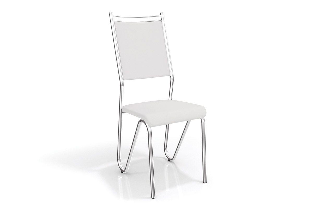 Cadeiras Kappesberg Londres Cromada 2C056CRCor Cromada  -  Assento Branco 106