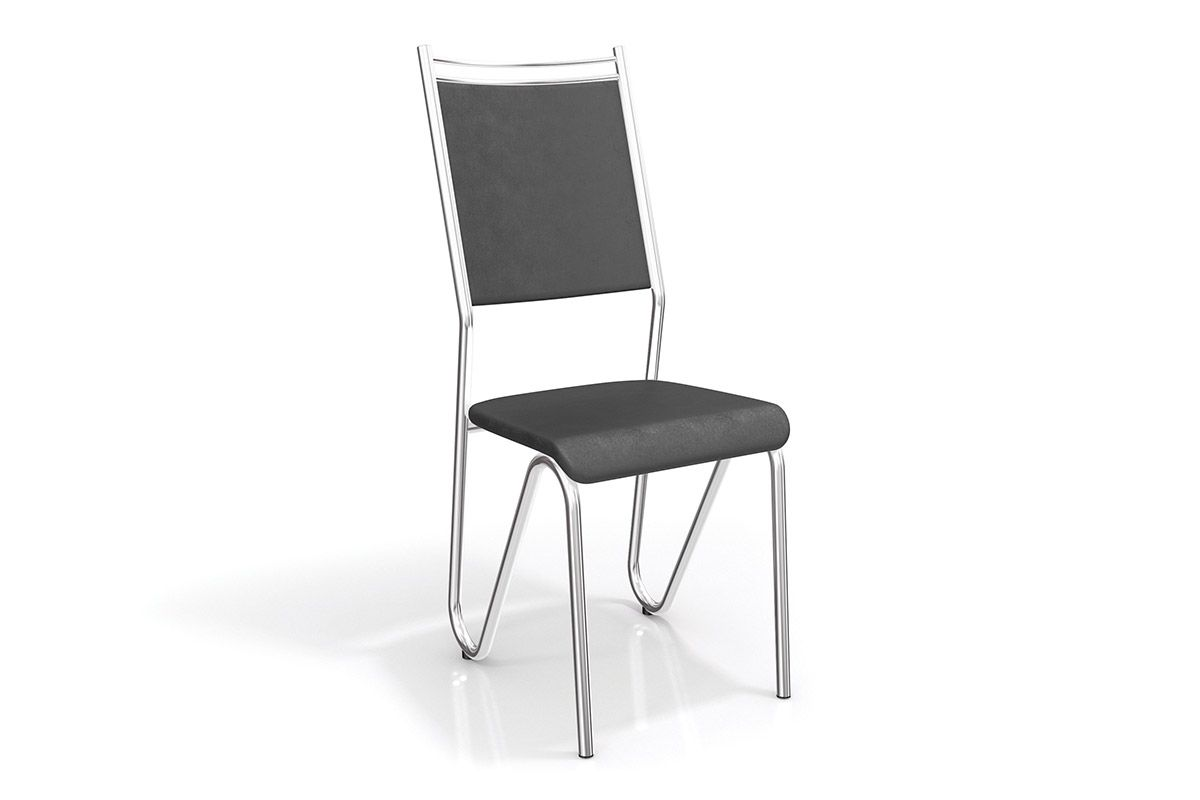 Cadeiras Kappesberg Londres Cromada 2C056CRCor Cromada  -  Assento Preto 110