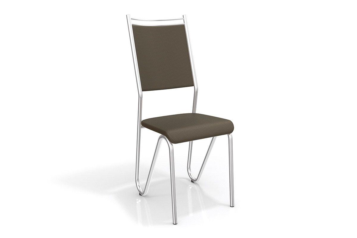 Cadeiras Kappesberg Londres Cromada 2C056CRCor Cromado  -  Assento Marrom 21