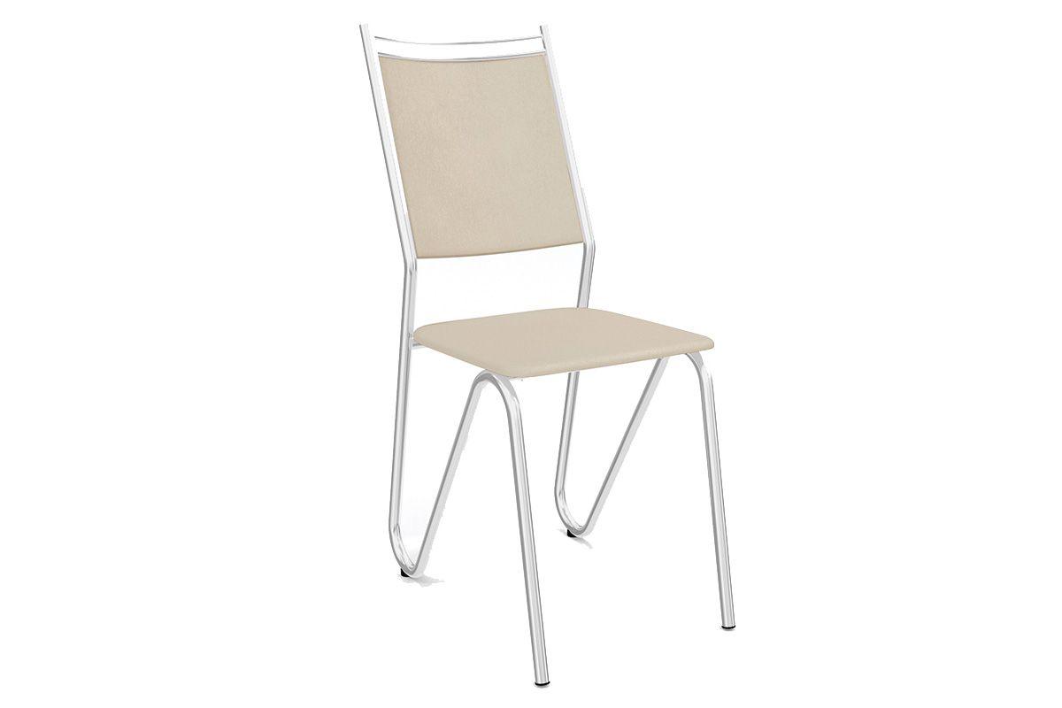 Cadeiras Kappesberg Londres Cromada 2C056CRCor Cromada  -  Assento Nude 16