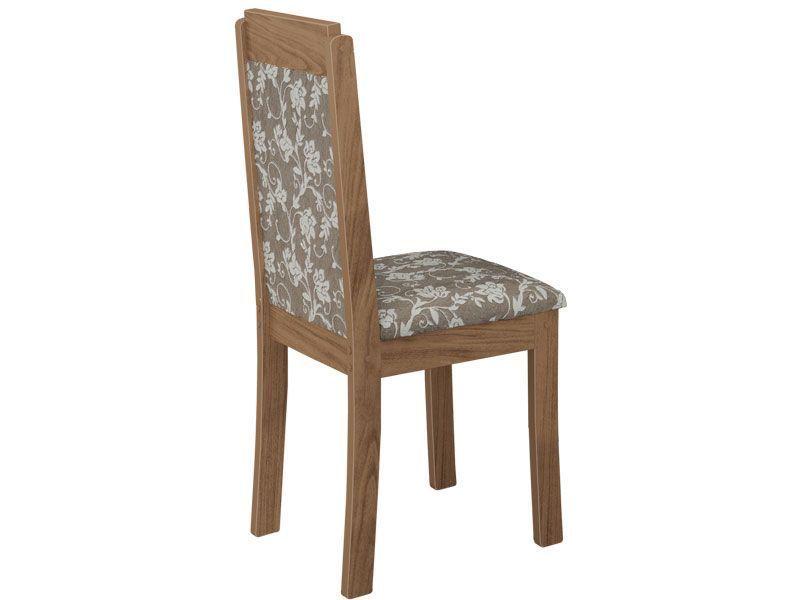 Conjunto de Mesa Lopas Iracema Base e Tampo Madeirado MDF Giratório 140cm + 8 Cadeiras Madeirado Pérola