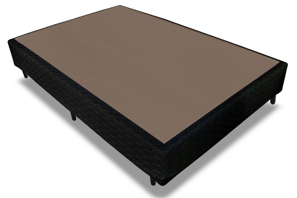 Cama Box Base Probel Tela BlackCama Box Casal - 1,38x1,88x0,25 - Sem Colchão