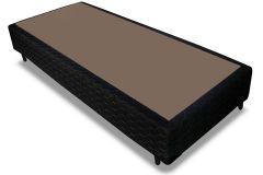 Cama Box Base Probel Tecido Black - Cama Box Solteiro-0,88x1,88x0,25-Sem Colchão