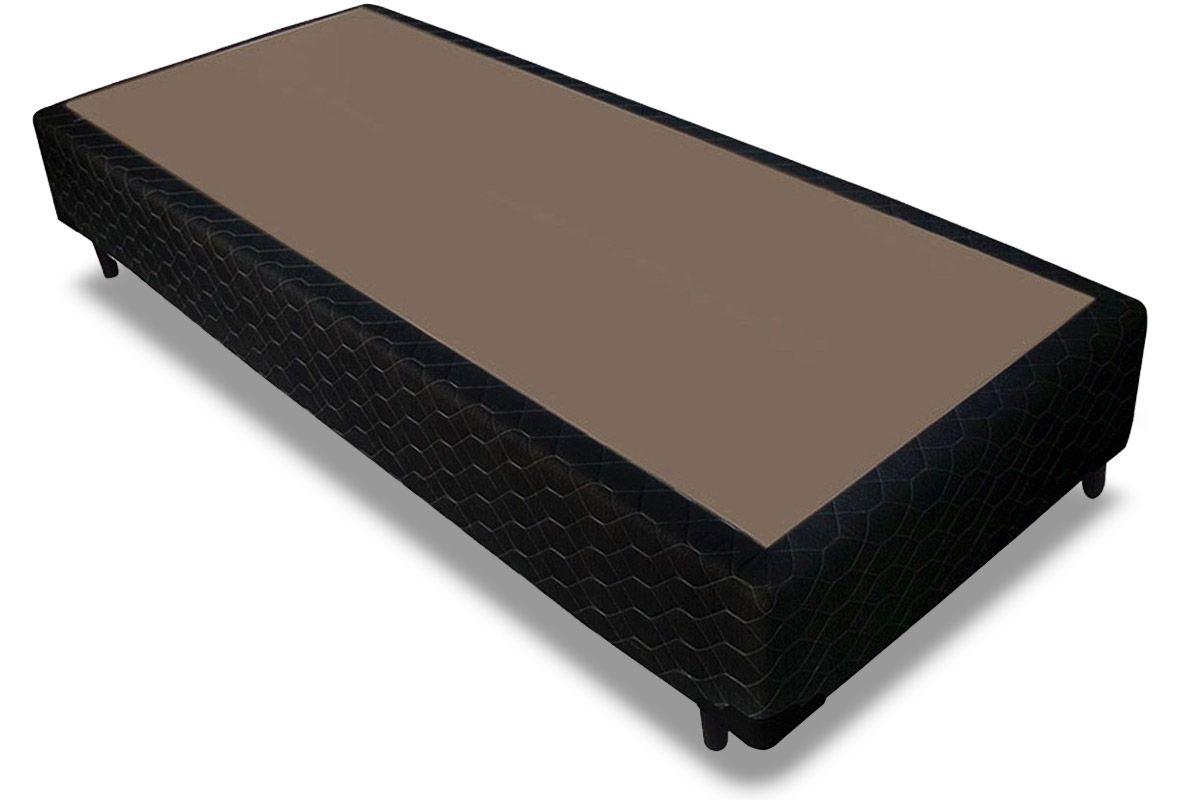 Cama Box Base Probel Tela BlackCama Box Solteiro - 0,88x1,88x0,25 - Sem Colchão