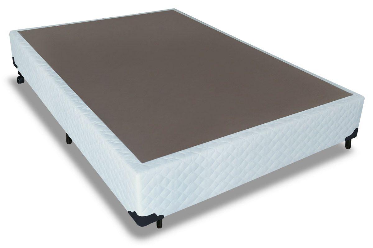 Cama Box Base Probel Tela BrancoCama Box Casal - 1,38x1,88x0,25 - Sem Colchão