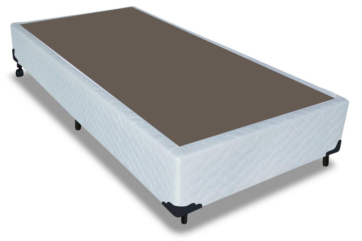 Cama Box Base Probel Tela BrancoCama Box Solteiro - 0,88x1,88x0,25 - Sem Colchão