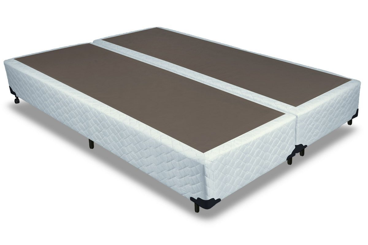 Cama Box Base Probel Tela BrancoCama Box King Size - 1,93x2,03x0,25 - Sem Colchão