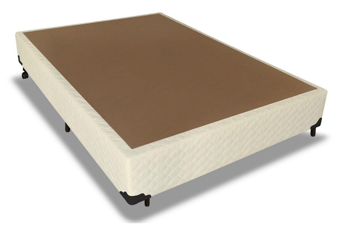 Cama Box Base Probel Tela MelCama Box Casal - 1,38x1,88x0,25 - Sem Colchão