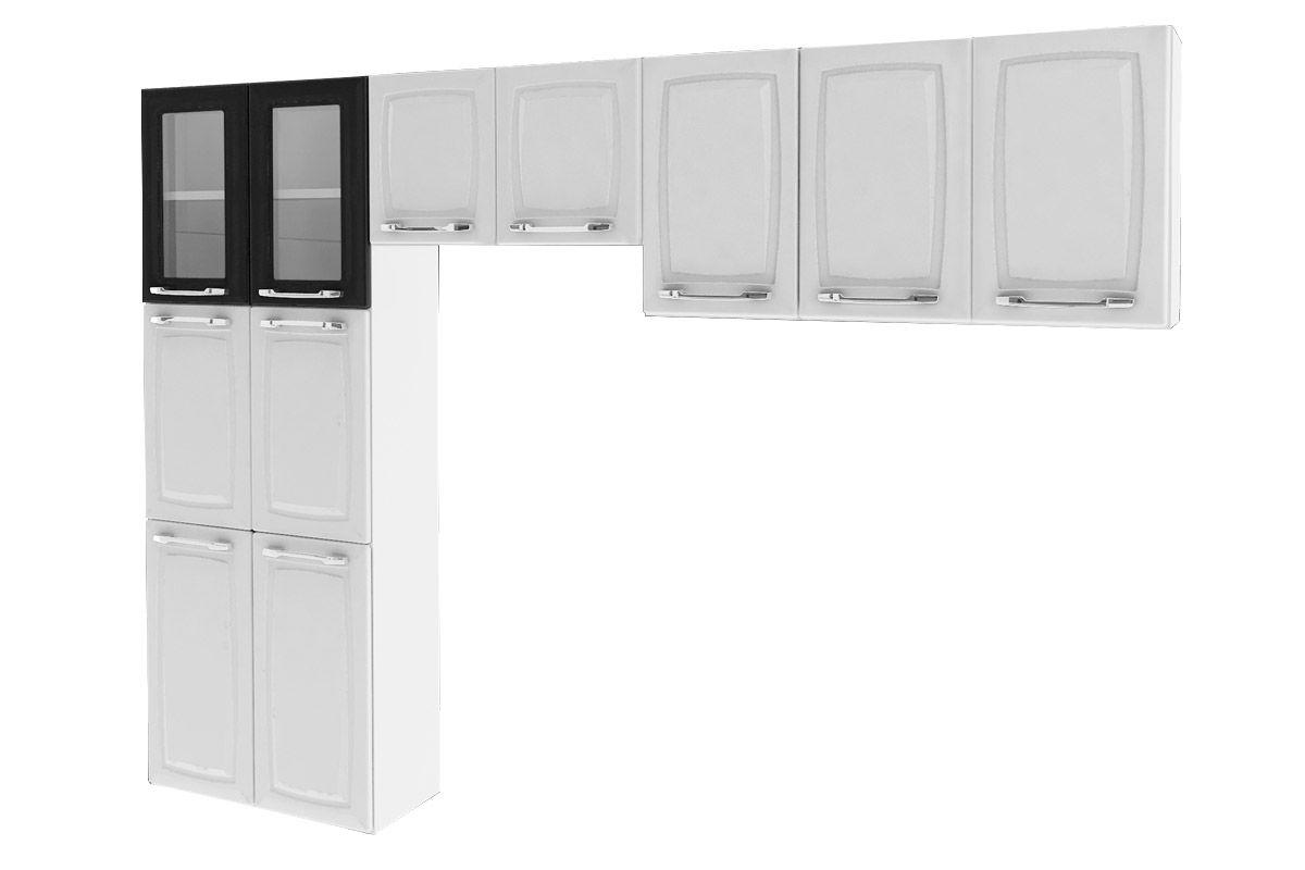 Cozinha Compacta Itatiaia Criativa (COZ MXII 2V) Cor Branco c/ Preto #242424 1200 800