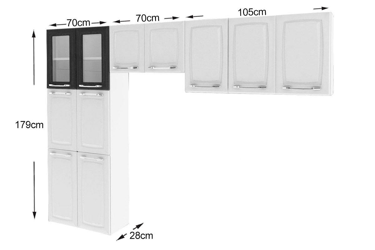 #303030 Cozinha Compacta Itatiaia Criativa (COZ MXII 2V) Cor Branco c/ Preto 1200x800 px Armario De Cozinha Compacta Aço #1921 imagens