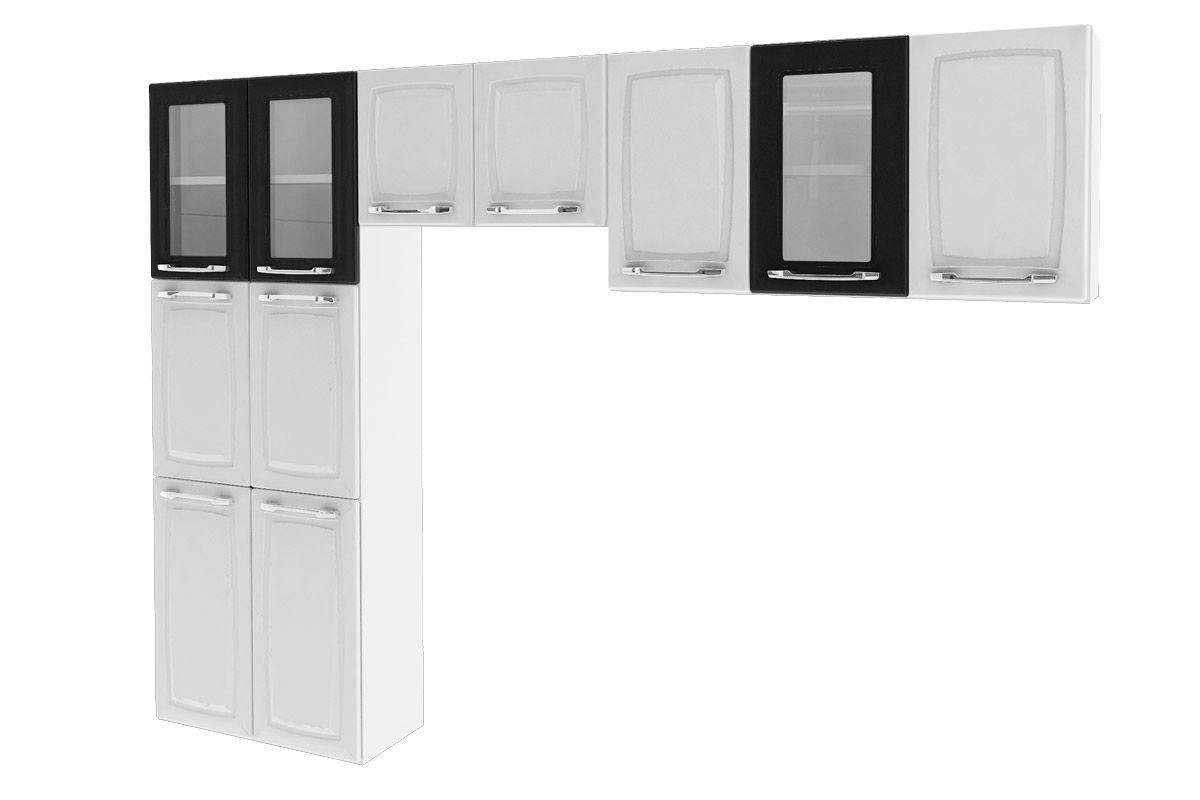 Cozinha Compacta Itatiaia Criativa (COZ MXII 3V)Cor Branco c/ Preto