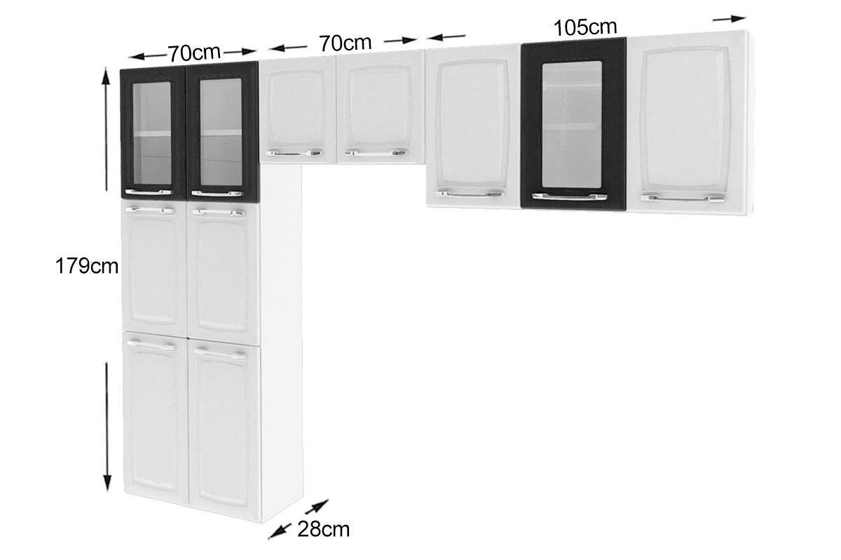 Cozinha Compacta Itatiaia Criativa (COZ MXII 3V) Cor Branco c/ Preto #585556 1200 800