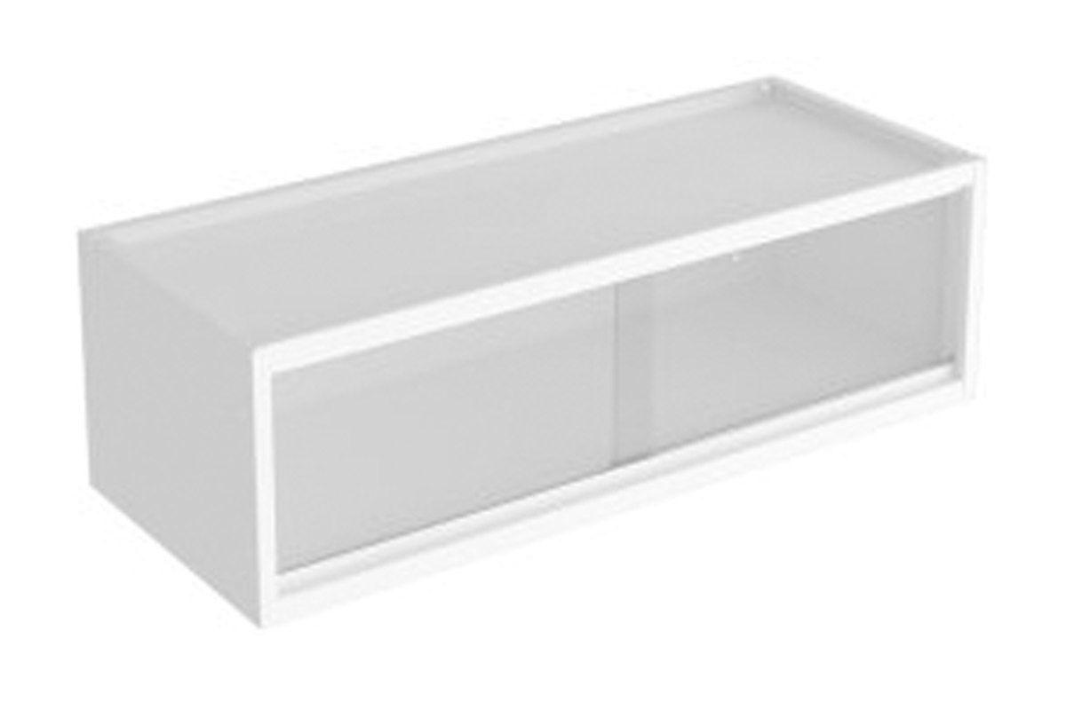 Nicho de Cozinha Itatiaia Multilinhas Geladeira Aço Com Vidro 80 cmCor Branco