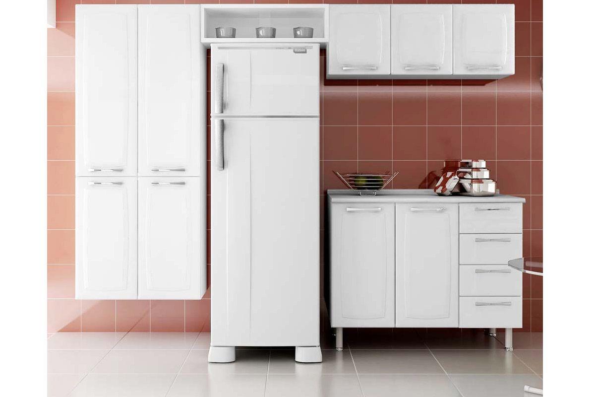Nicho de Cozinha Itatiaia Multilinhas Geladeira Aço Com Vidro 80 cm