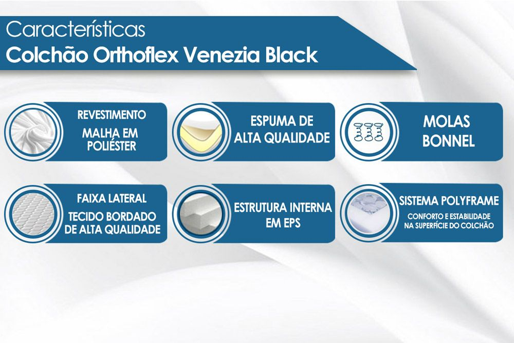 Colchão Orthoflex Molas Bonnel Venezia Black