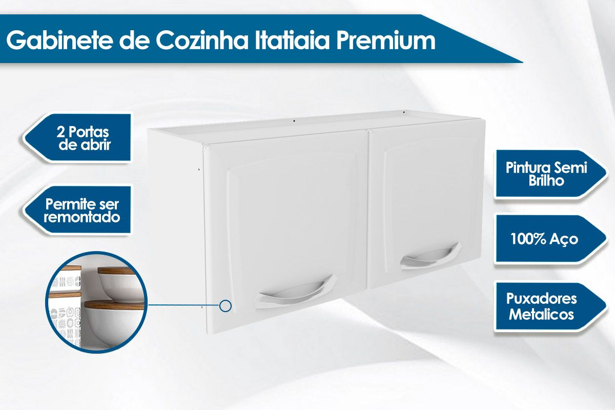 Armário de Geladeira Itatiaia Premium IPG2-80
