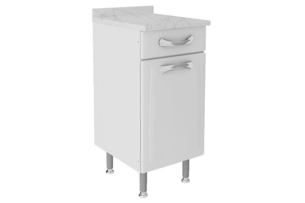 Gabinete de Cozinha Itatiaia Premium IG1GD-40 TL c/ TampoCor Branco