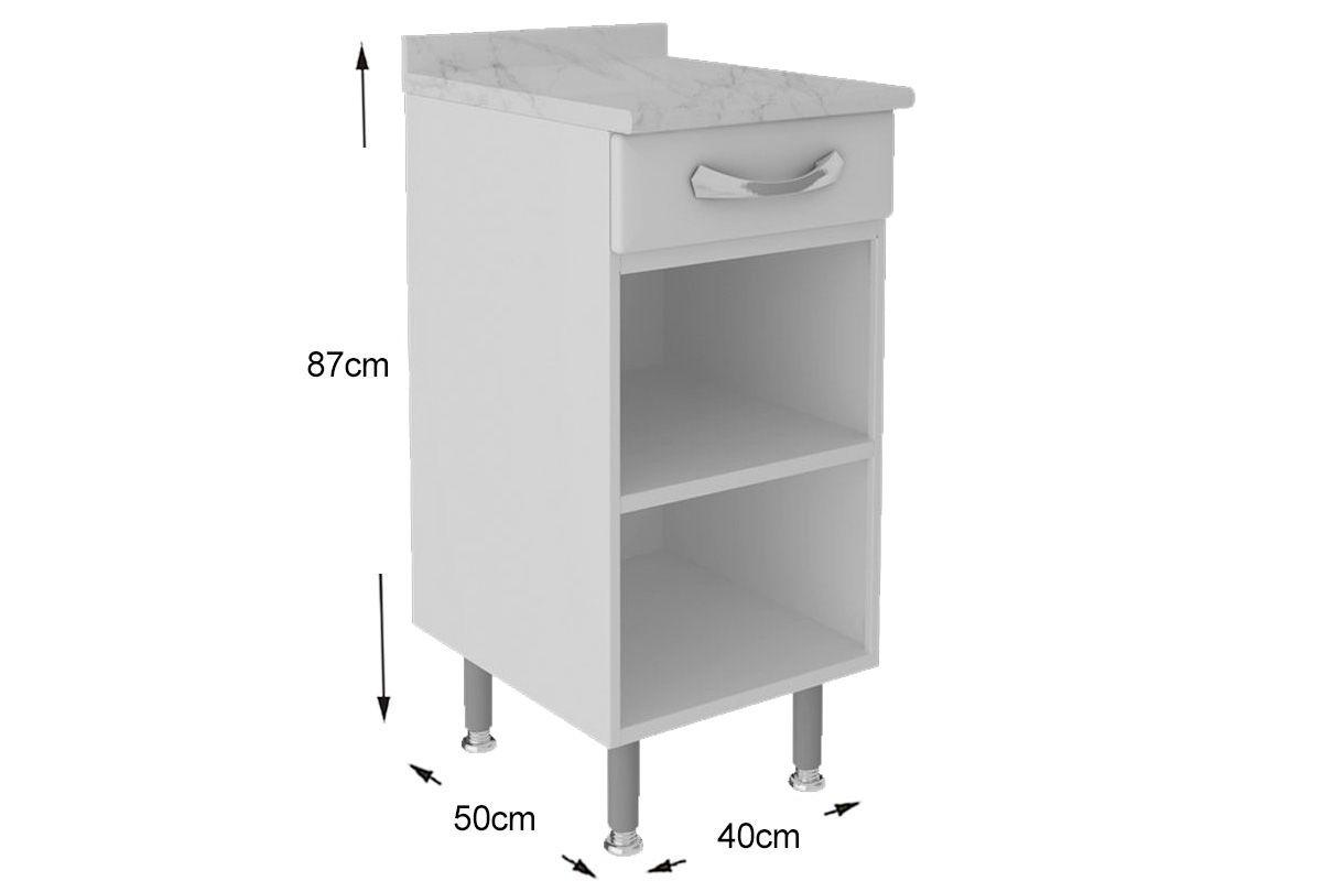 Gabinete de Cozinha Itatiaia Premium IG1GD-40 TL c/ Tampo