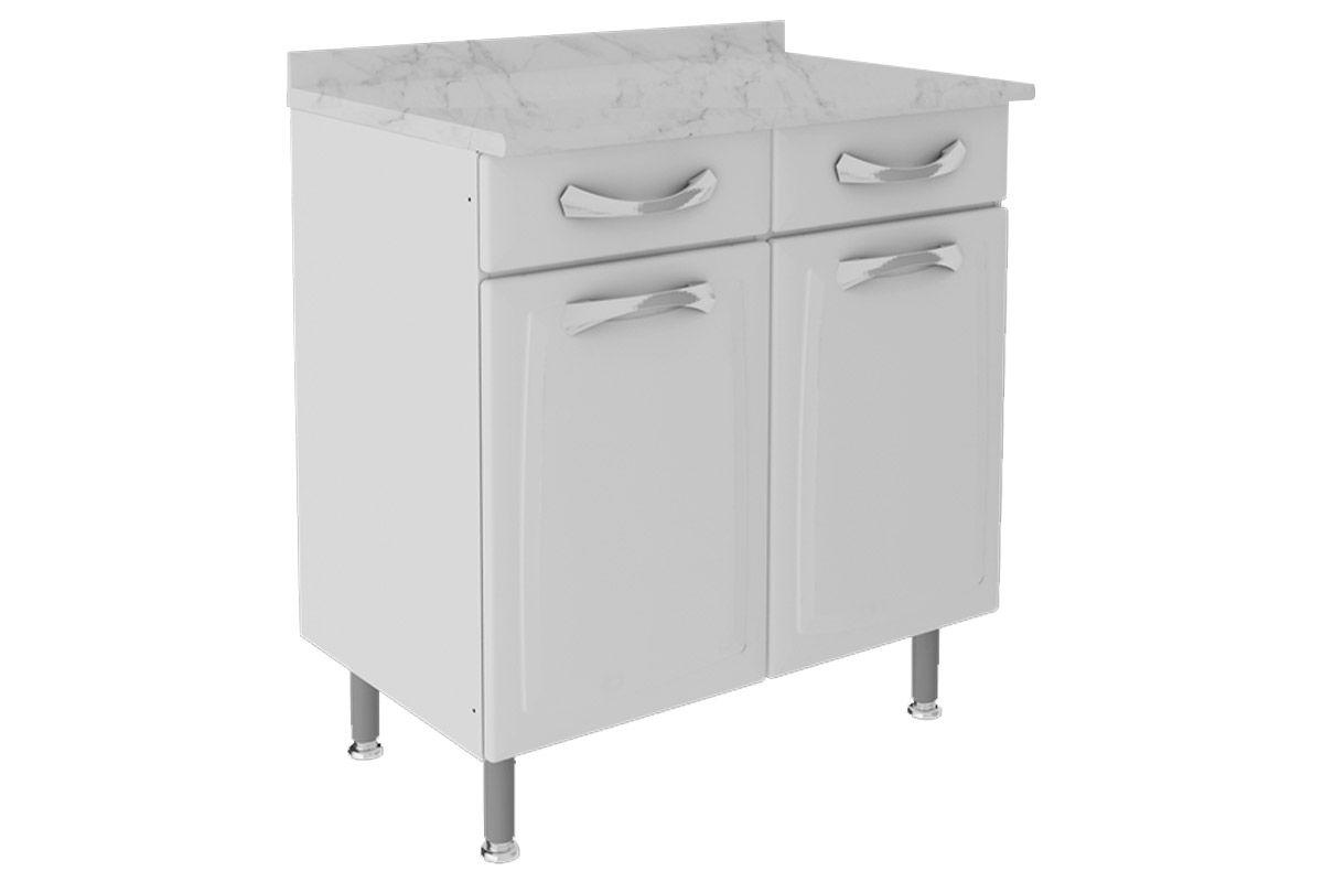Gabinete de Cozinha Itatiaia Premium IG2GD-80 TL c/ TampoCor Branco