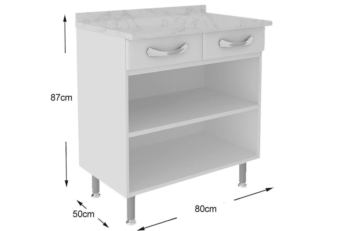Gabinete de Cozinha Itatiaia Premium IG2GD-80 TL c/ Tampo