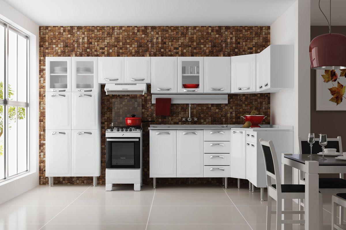 Cozinha Completa Itatiaia Premium De A O Kit 08 Pe As Cz24 At 40