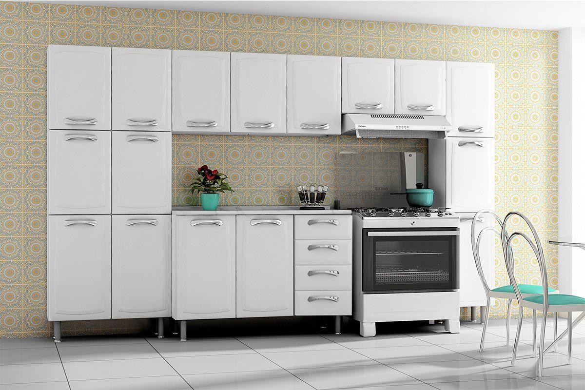 Cozinha Completa Itatiaia Premium de Aço c/ 5 Peças CZ22 até 40%  #3C8F80 1200 800