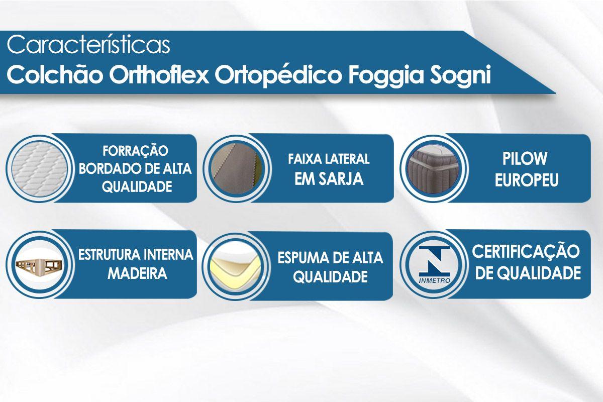 Colchão Orthoflex Ortopédico Foggia Sogni Black