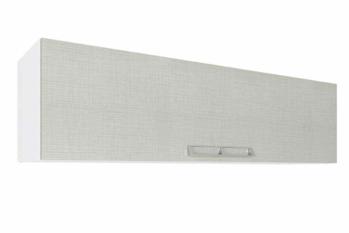 Armario Aéreo Art In Móveis CZ403 Basculante 1 Porta-Cor Branco c/ NudeCor Branco c/ Nude