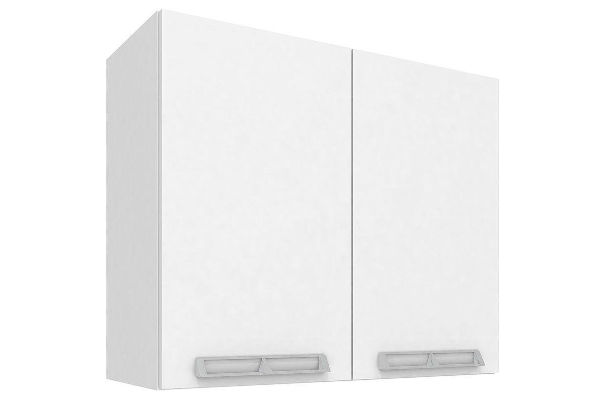 Armario Aéreo Art In Móveis CZ408 2 Portas-Cor Branco c/ NudeCor Branco