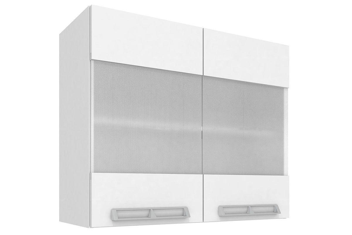 Armario Aéreo Art In Móveis Mia Coccina CZ409 2 Portas Vidro Mini Boreal TemperadoCor Branco