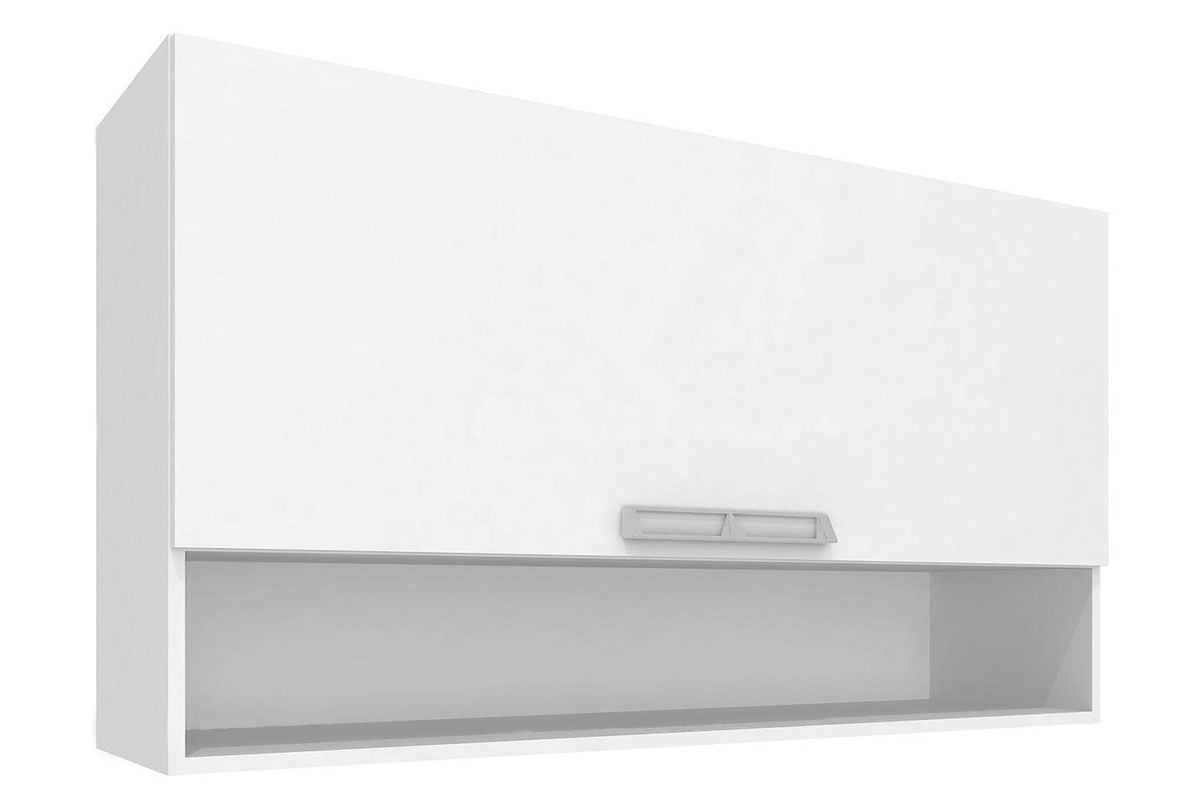 Armario Aéreo Art In Móveis Mia Coccina CZ413 1 Porta Basculante e NichoCor Branco