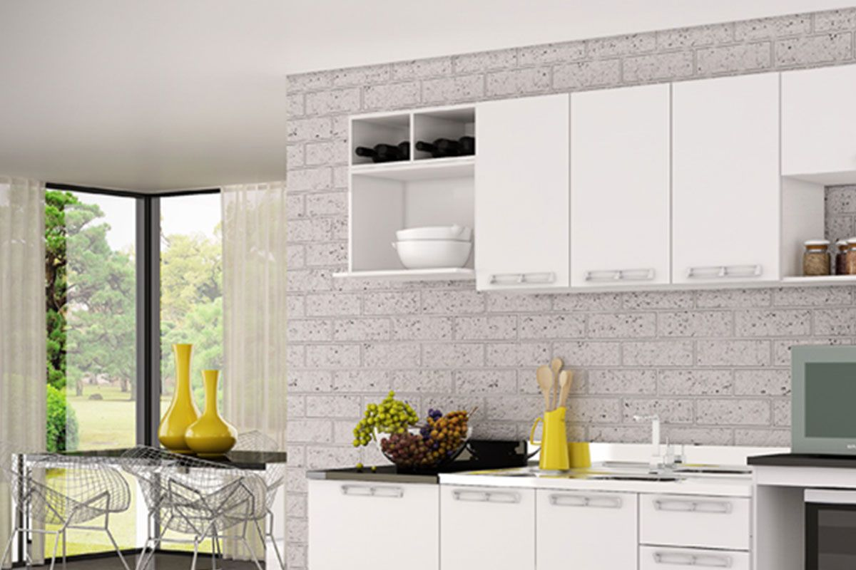 Cozinhas Completas com Armário Aéreo Art In Móveis Microondas CZ512  #AC901F 1200 800