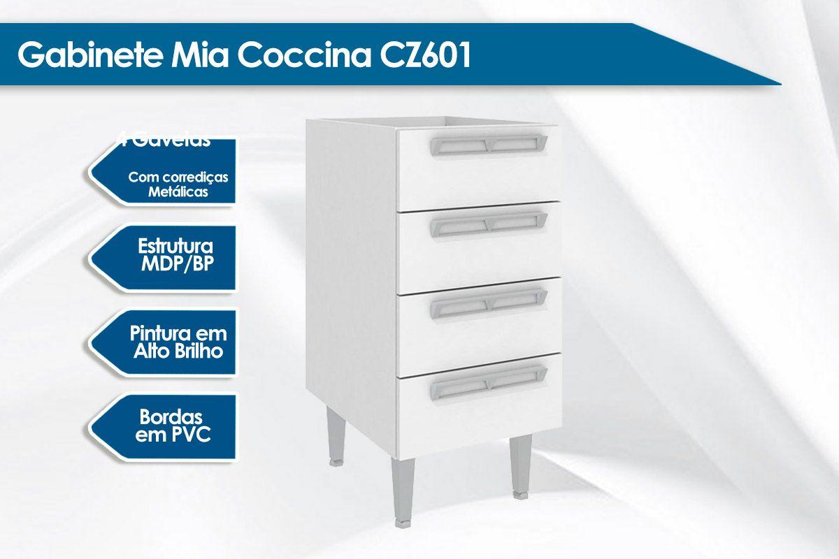 Balcão de Cozinha Art In Móveis Mia Coccina CZ601 4 Gavetas