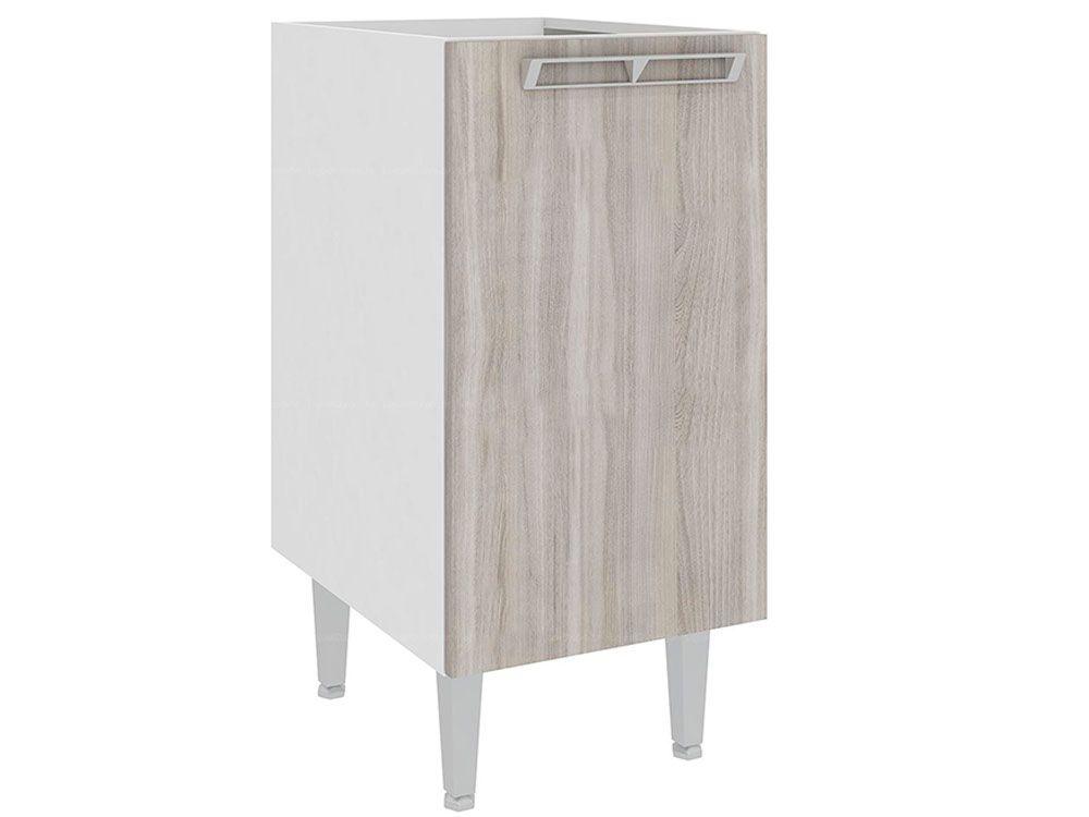 Balcão de Cozinha Art In Móveis CZ602 1 Porta 1 PrateleiraCor Branco c/ Fresno