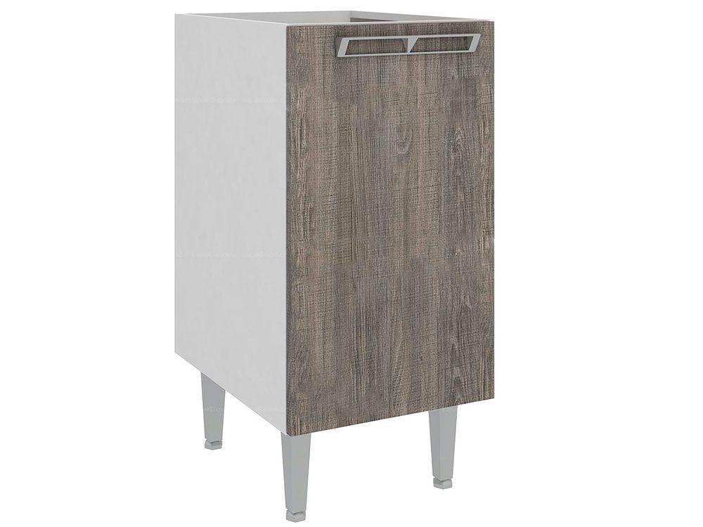 Balcão de Cozinha Art In Móveis CZ602 1 Porta 1 PrateleiraCor Branco c/ Rústico