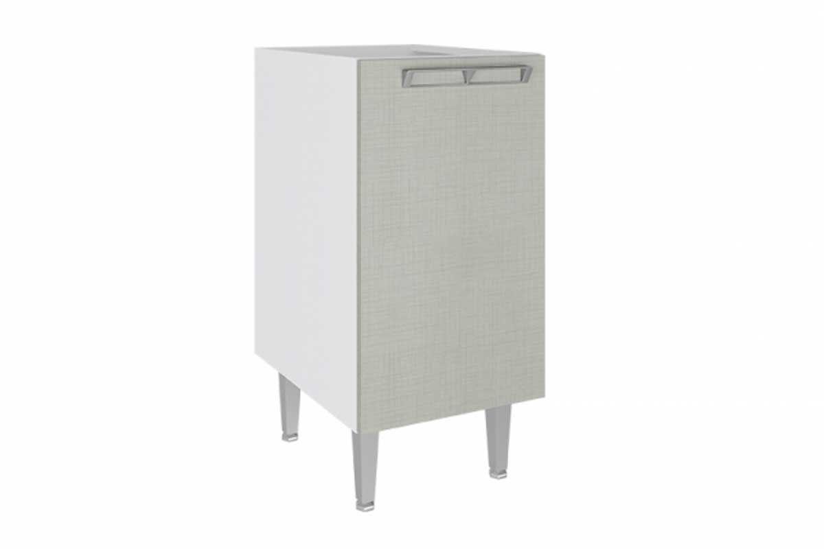 Balcão de Cozinha Art In Móveis CZ602 1 Porta 1 PrateleiraCor Branco c/ Nude