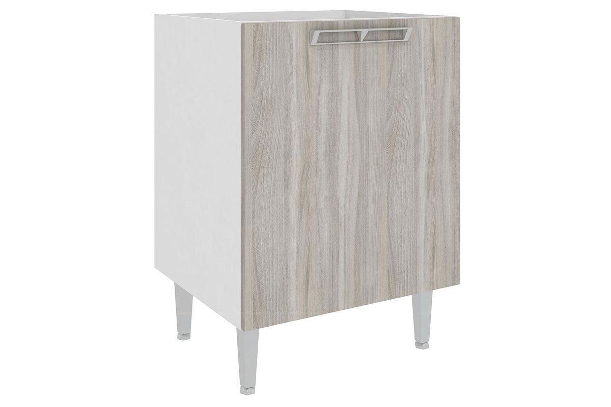 de Cozinha Art In Móveis CZ604 1 Porta Cor BrancoCor Branco c/ Fresno #6D665E 1200x800