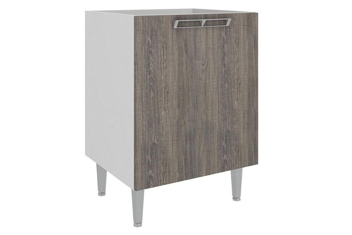 Cozinha Art In Móveis CZ604 1 Porta Cor BrancoCor Branco c/ Rústico #5E5953 1200x800