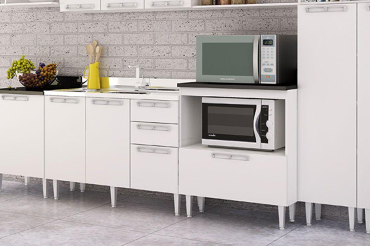 Balcão de Cozinha Art In Móveis CZ611 2 Portas 1 Prateleira