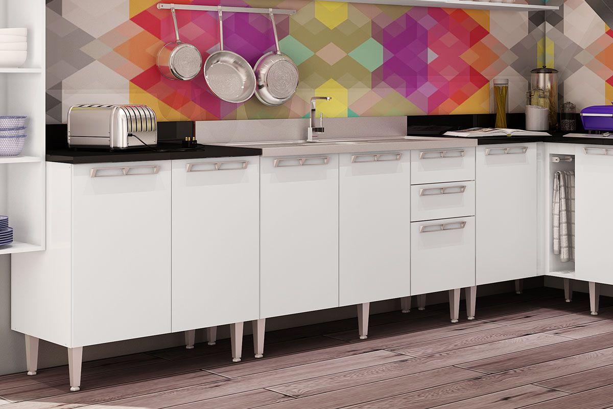 Cozinhas Completas com Balcão de Cozinha Art In Móveis CZ614 2  #966535 1200 800