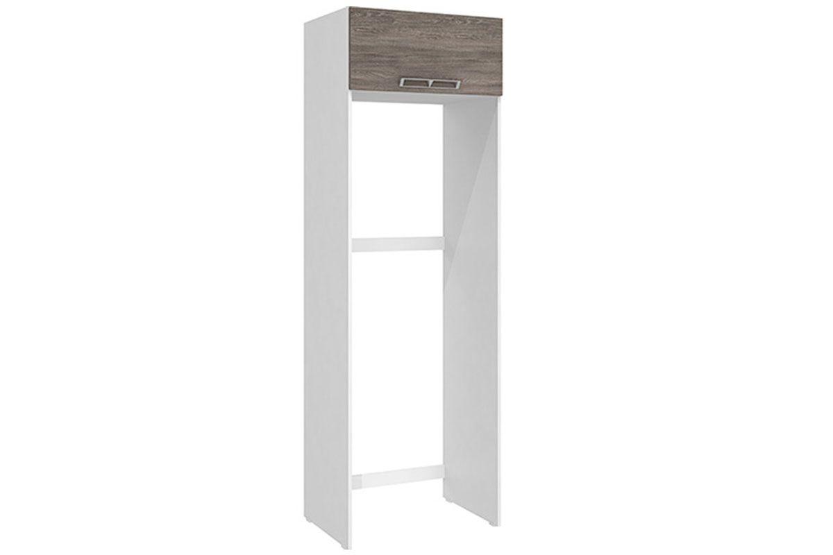 Gabinete de Geladeira Art In Móveis CZ705Cor Branco c/ Rústico