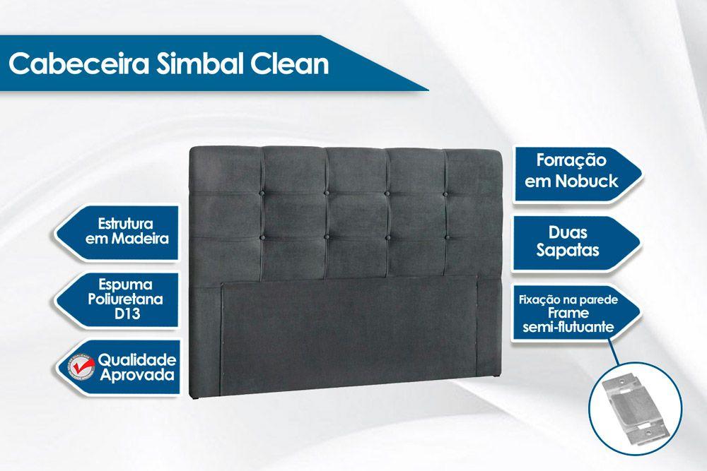 Cabeceira Cama Box Casal Simbal Clean