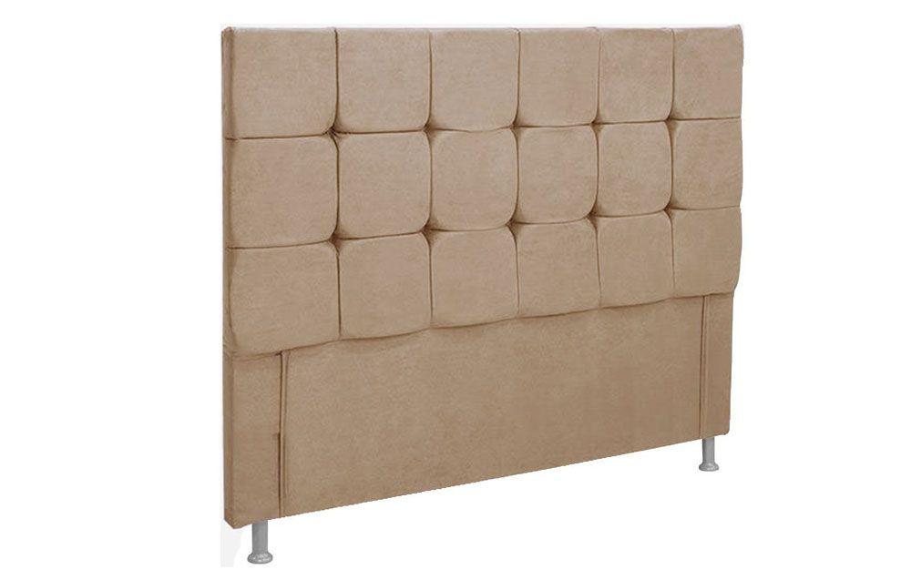 Cabeceira Cama Box Casal Simbal SlimKing Size  -  Cor Nobuck Bege II