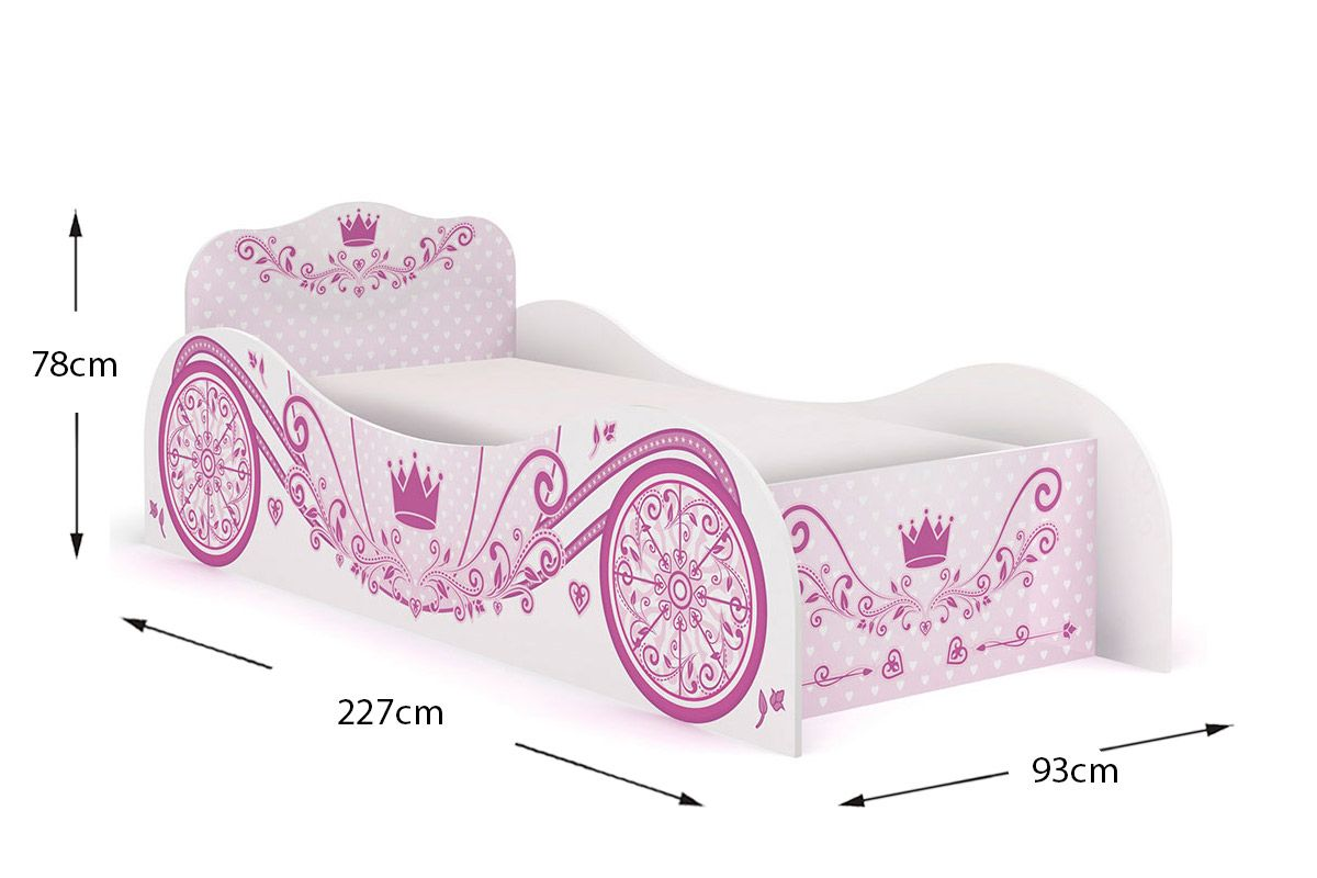 Cama Infantil Kappesberg Carruagem Rosa D310