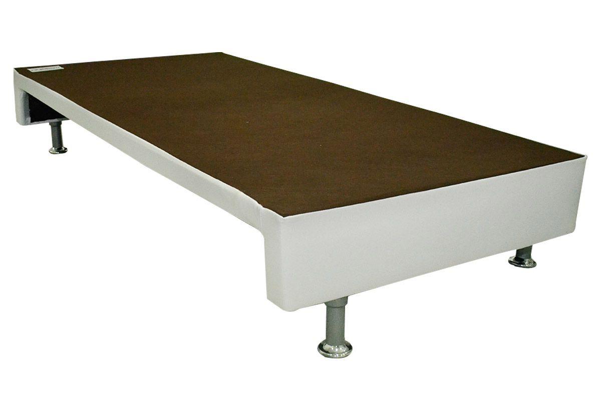 Bicama Ortobom Americana Cori Bianco Vaz s/AuxiliarCama Box Solteiro - 0,88x1,88x0,20 - Sem Colchão