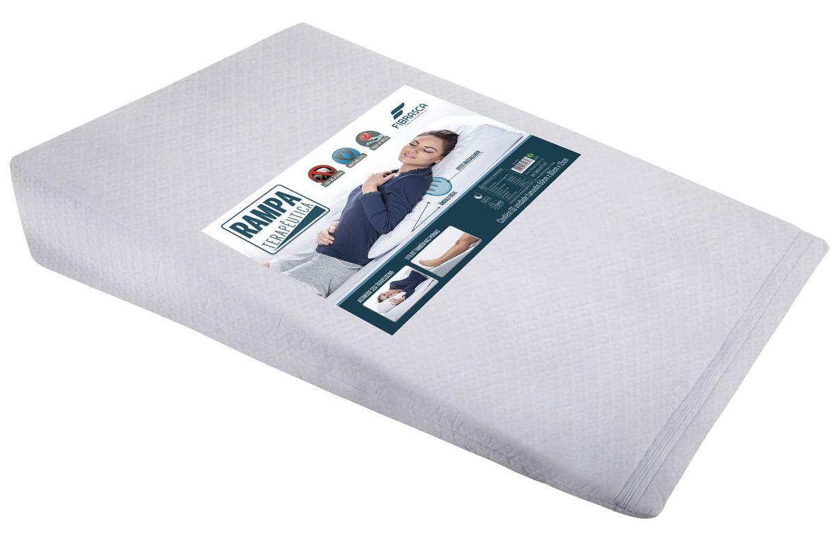 Travesseiro Fibrasca Rampa Terapêutica Anti Refluxo p/ Adultos Impermeável T.LatexTravesseiro  -  60x83x15