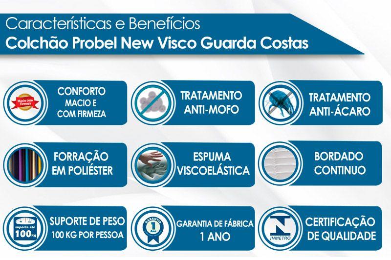 Colchão Probel New Visco Guarda Costas