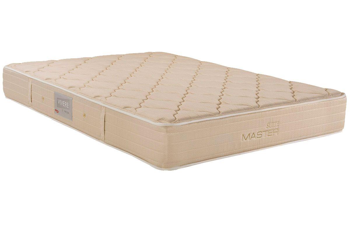 Colchão Herval Molas Bonnel Suite MasterColchão Queen Size - 1,58x1,98x0,25 - Sem Cama Box