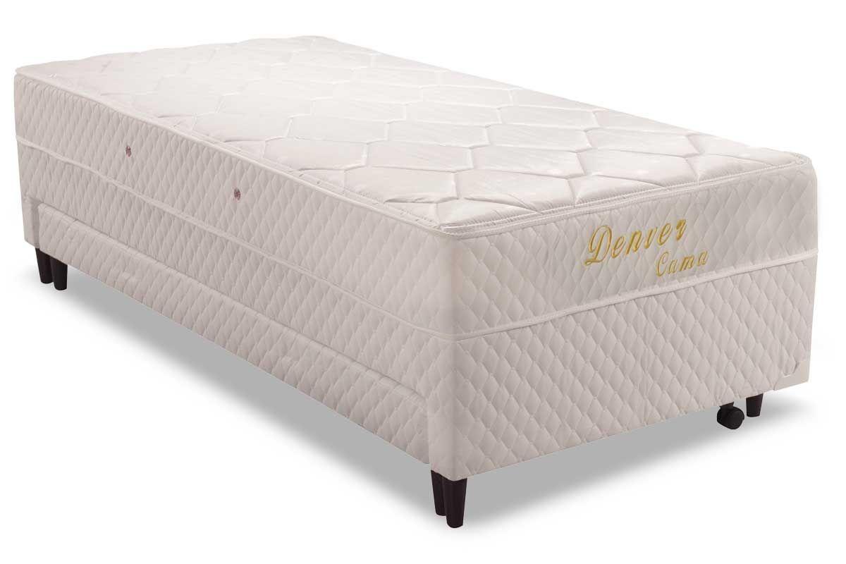 Conjugado Box Herval Molas Bonnel Denver c/AuxiliarBicama Solteiro 0,88 x 1,88  -  Cor Branco