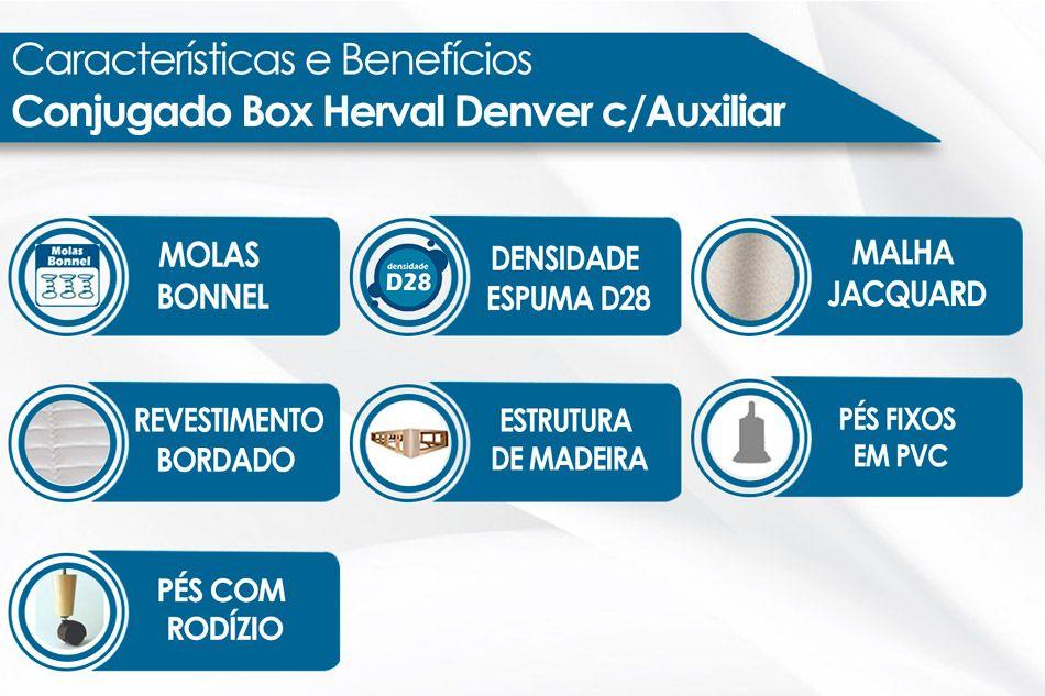 Conjugado Box Herval Molas Bonnel Denver c/Auxiliar